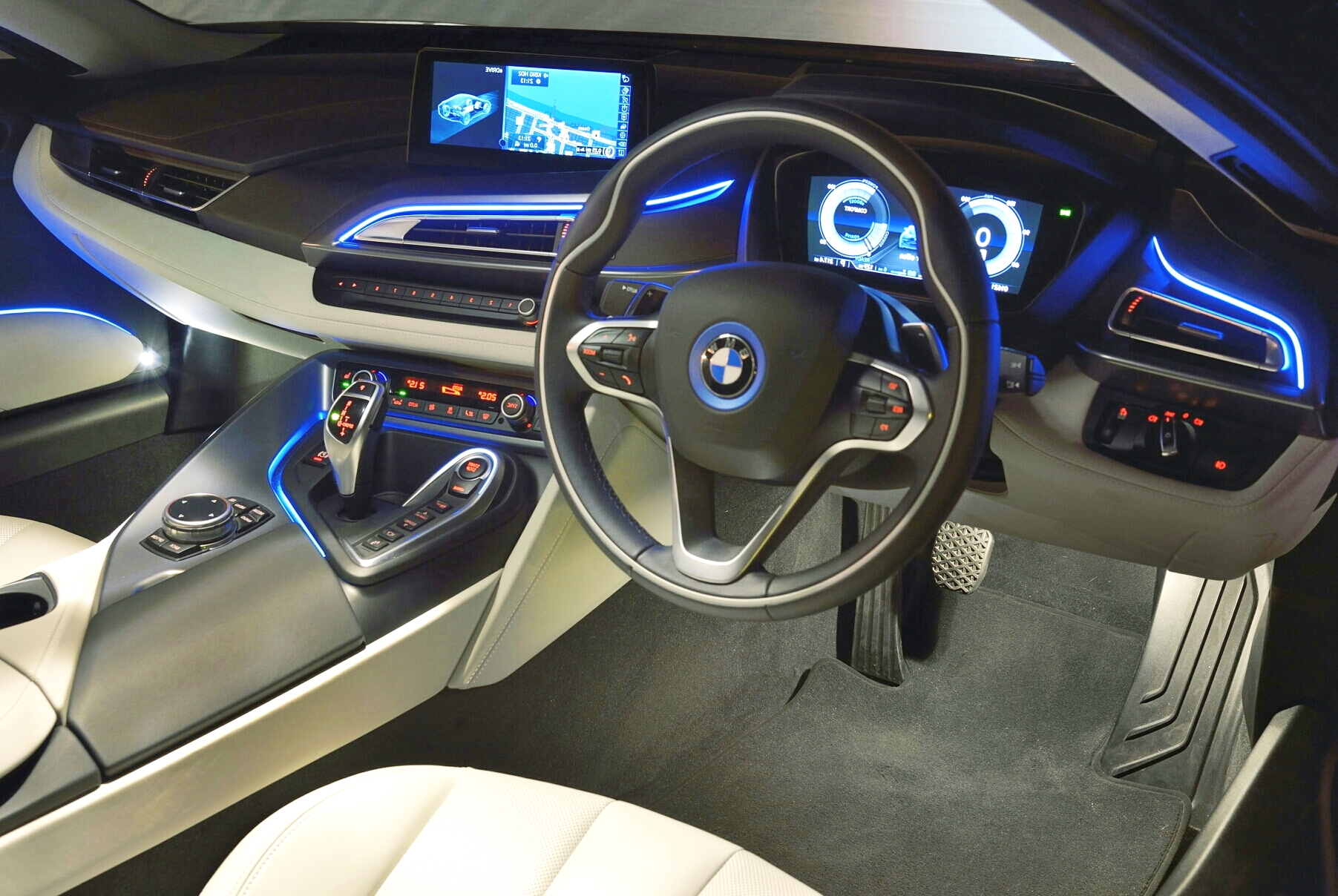 The socialite takes the bmw i8 for a spin for I 8 interior