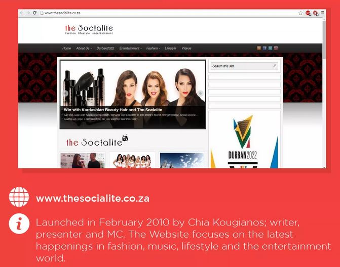 the socialite in top 10 outstanding entertainment blogs. Black Bedroom Furniture Sets. Home Design Ideas